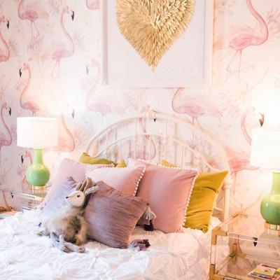 Fototapeta z flamingami